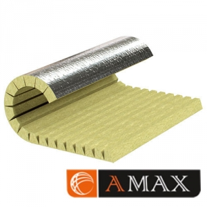 Цилиндр теплоизоляционный ламельный кашированный фольгой  D533x80 мм фото 1