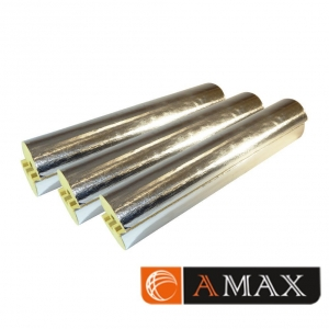 Цилиндр минераловатный кашированный фольгой   D21x100 мм фото 1